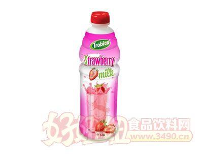 1.25L越南进口草莓味果奶