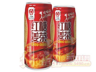 中原红红糖麦茶330ml