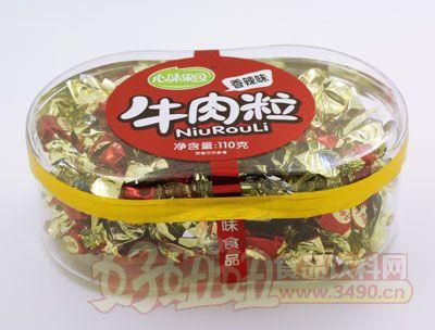 心味果园110g香辣牛肉粒