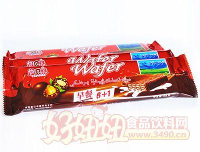 淘贝�涸绮�6+1巧克力威化饼