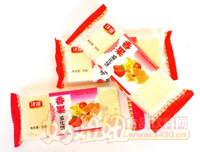 津都香果威化饼50g