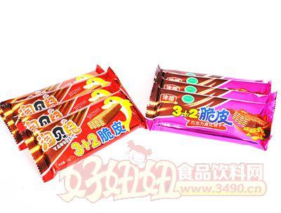 淘贝��3+2脆皮巧克力威化饼干