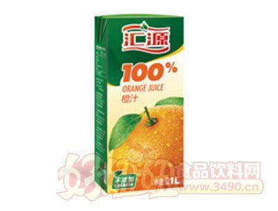 汇源100%橙汁1L