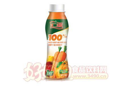 汇源100%胡萝卜复合果蔬汁300ml