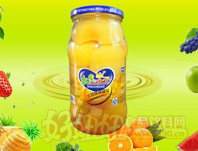 水果王子1000g冰糖黄桃罐头