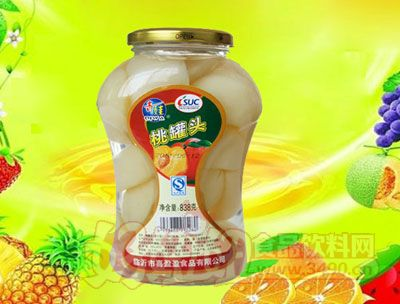 水果王子桃罐头838g