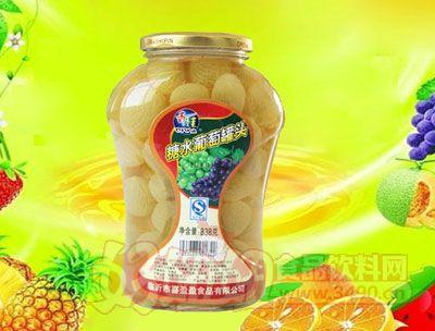 水果王子838g糖水葡萄罐头