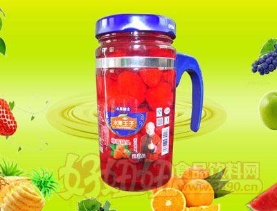 水果王子638g草莓罐头