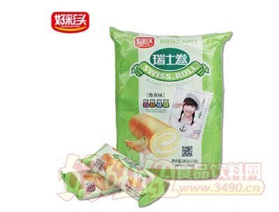 好彩�^瑞士卷16g×10枚袋�b香蕉味