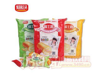 好彩�^三�N口味瑞士卷160g×3袋