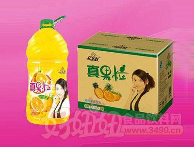 橙粒果味饮料2.58L 6瓶
