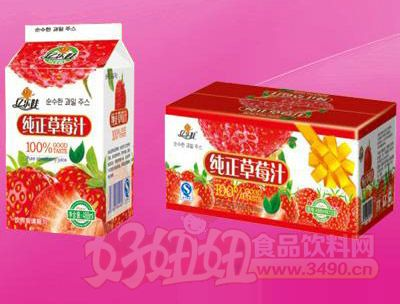 纯正草莓汁真屋顶488m 12盒