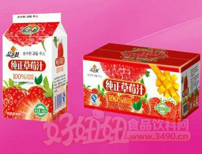 纯正草莓汁真屋顶488ml 12盒