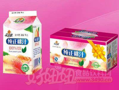 纯正桃汁真屋顶488ml 12盒