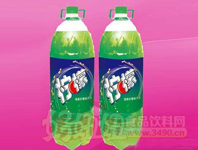 柠檬味碳酸饮料2.58L 6瓶(塑包)