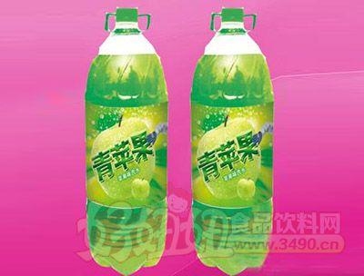 苹果味碳酸饮料2.58L 6瓶(塑包)