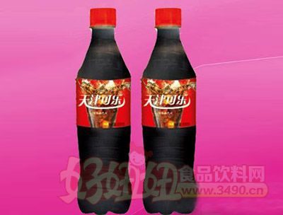 天津可乐碳酸饮料600ml 24瓶(塑包)