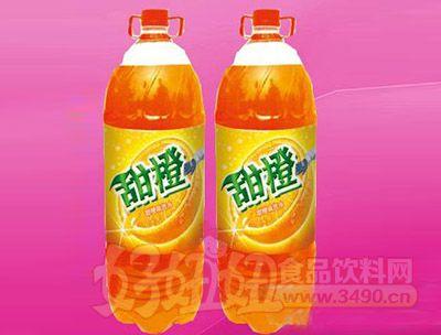 甜橙味碳酸饮料2.58L 6瓶(塑包)