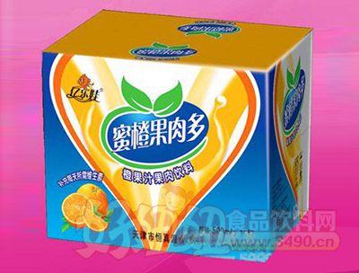 蜜橙果肉多(纸箱)500ml 15瓶