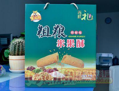 米拉熊粗粮米果酥烤虾味礼盒1KG