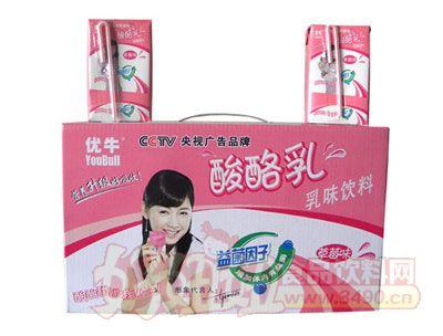 优牛优酪乳果味饮料(草莓味)