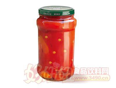 紫山烤红椒罐头