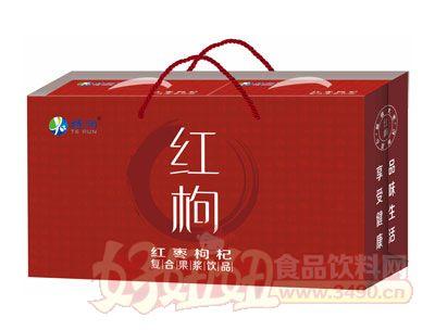 特润红枸复合果浆饮品手提袋