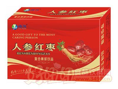 特润人参红枣复合果浆饮品箱装