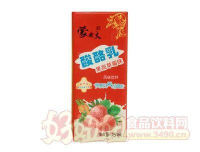 蒙老大酸酪乳果蔬草莓味250ml