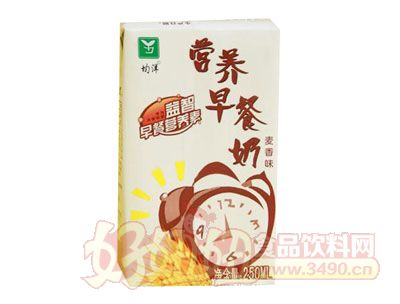 均洋营养早餐奶麦香味250ml