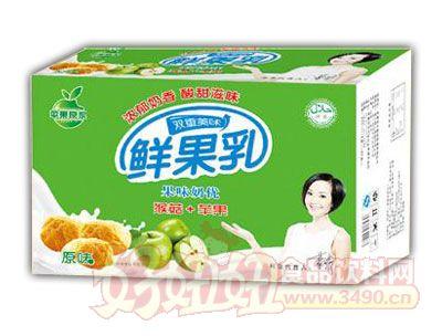 均洋鲜果乳猴菇+苹果原味240ml×16、20盒