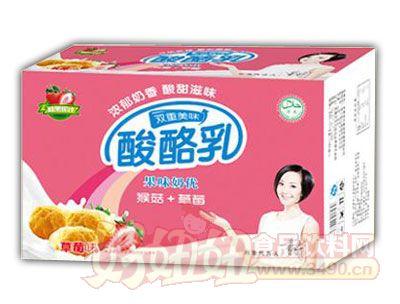 均洋酸酪乳猴菇+草莓240ml×16、20盒