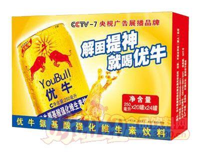 优牛氨基酸强化维生素饮料240ml×16、20罐