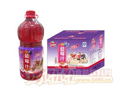 优露蓝莓汁箱2.58L×6瓶
