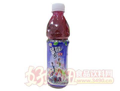 优露蓝莓派对果味饮料480ml