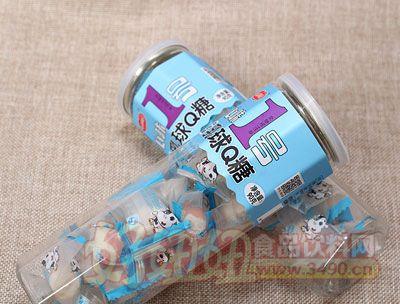 心味果园牛奶味乳球糖90g罐装