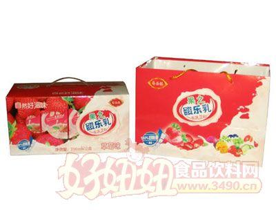 齐乐福果之酸乐乳(草莓味)