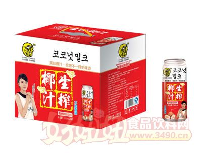 一椰鲜生榨椰汁960ml×6罐
