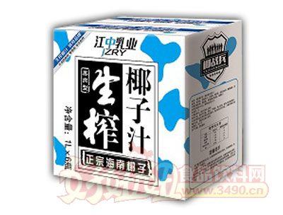 江中乳业椰战兵生榨椰子汁1L×6瓶