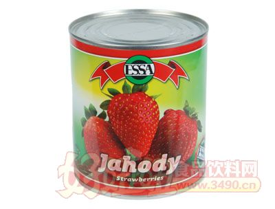 奇伟850g出口草莓罐头