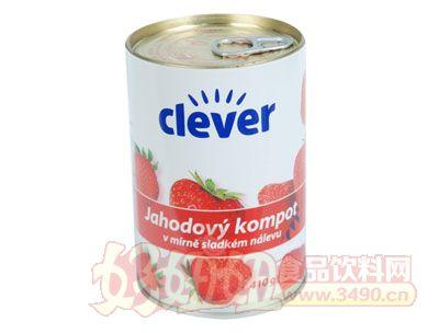 奇伟出口草莓罐头425g