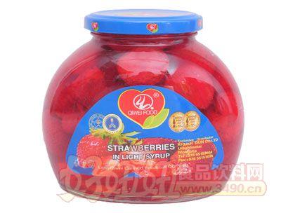 奇伟580g出口蒙古国草莓罐头