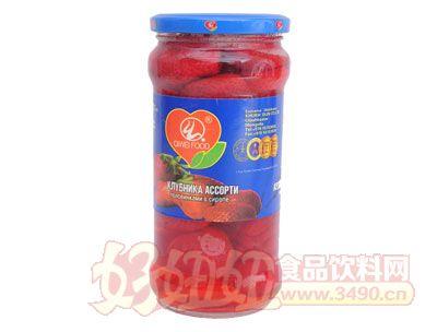 奇伟出口蒙古国草莓罐头550g