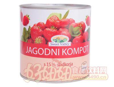 奇伟草莓罐头出口850g
