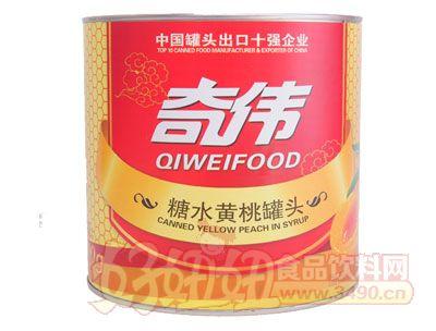 奇伟3kg糖水黄桃罐头