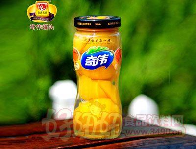 奇伟620g黄桃罐头