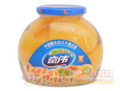 奇伟550g糖水黄桃罐头