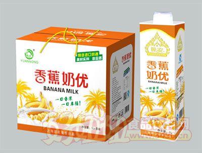 源农香蕉奶优1L×8盒