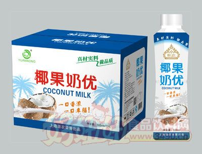 源农椰果奶优500ml×15瓶