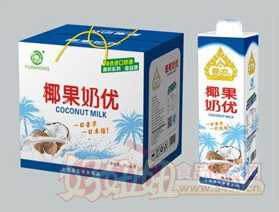 源农椰果奶优椰子汁1L
